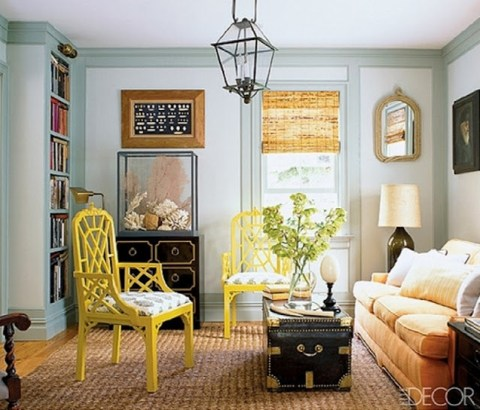 Yellow Chairs via Elle Decor