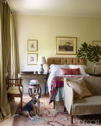 Julia Reeds Guest Bedroom via Elle Decor