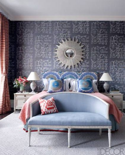 Sheila Bridges Guest bedroom via Elle Decor