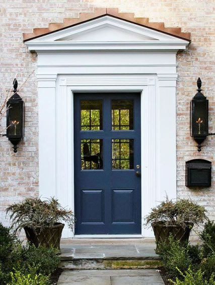 Blue door via BHG