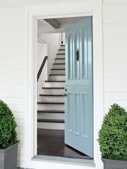 Blue door via Country Living