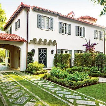 Grass driveway via Southern Living