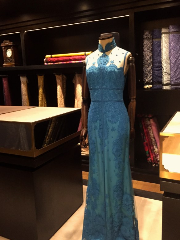 custom dresses in Shanghai Tang in Hong Kong via The Potted Boxwood.