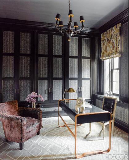 High Glamour Office Space via Elle Decor