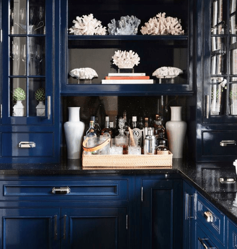 Navy and balck kitchen