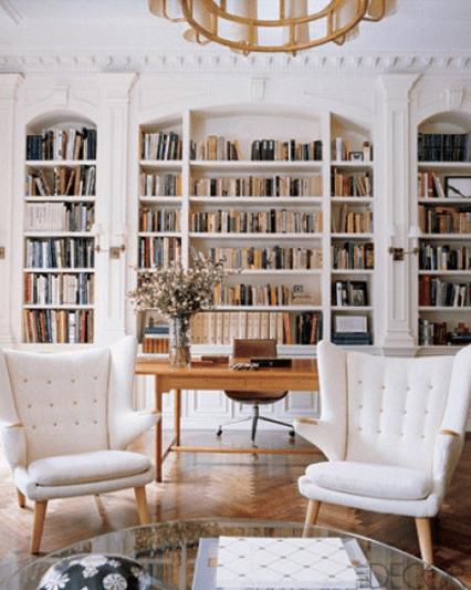 White office via Elle Decor