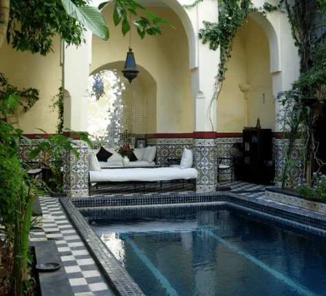 Moroccan Influence in a Couryard