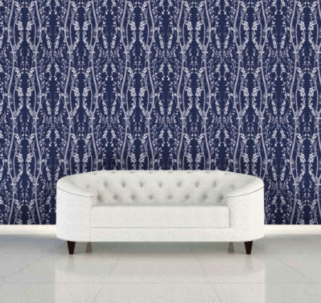 Blue and white removable wallpaper tempaper