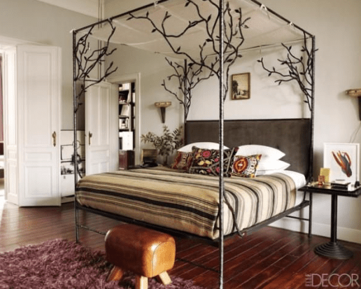 Ikea iron bed via Elle Decor
