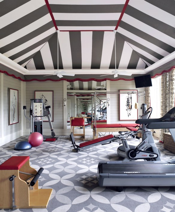 Gym designed by Richard Keth Langham via AD