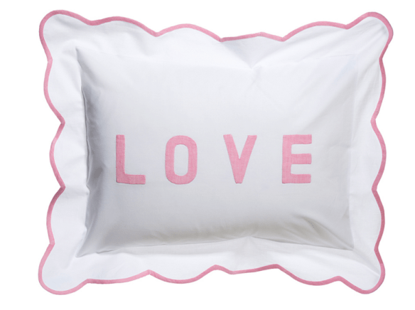 LOVE pillow Charmajesty Linens