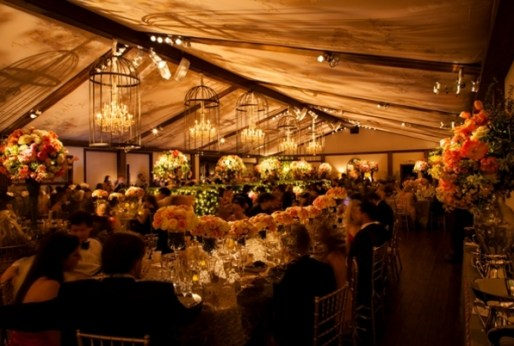 Low tented wedding via Pintrest