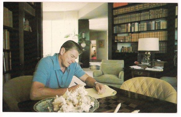 President Reagan at his California home