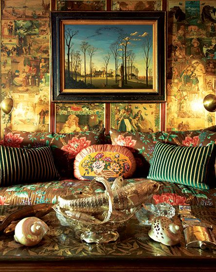 Gloria Vanderbilts bedroom via New York magazine