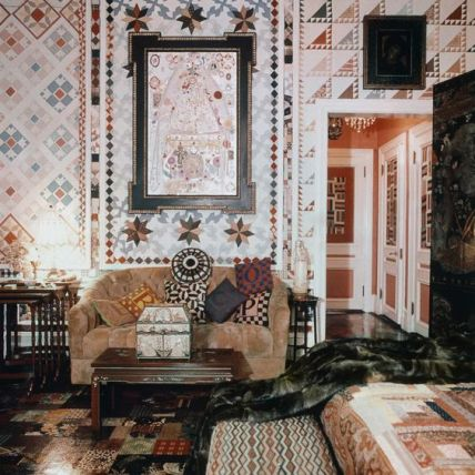 Gloria Vanderbilts foyer in the 70s via Vogue