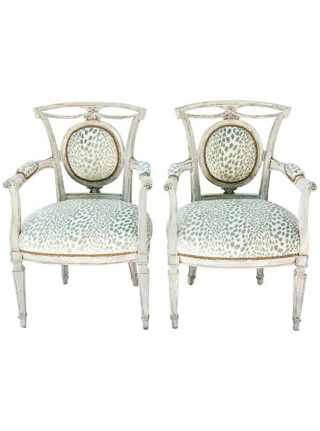Pair of Venetian Style Painted Armchairs, Early 20th Century The HighBoy