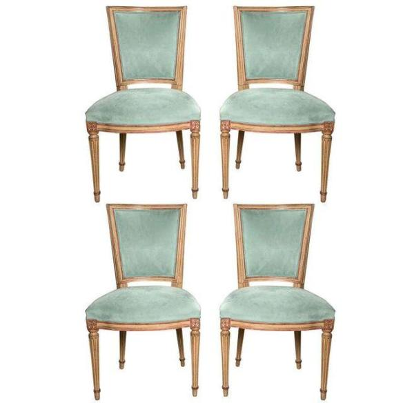 Maison Jansen Louis XVI Style Dining Chairs from Chairish