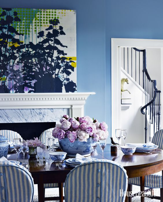 Blue Dining Room By Mary Douglas Drysdale Via  Part 43
