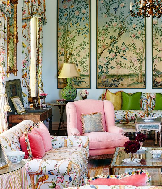I really just adore how fun this is via chinoiserie chic