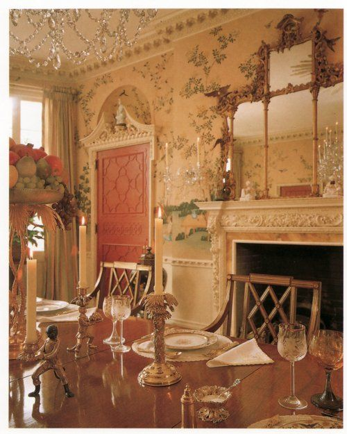 Anne Cox Chambers dining room in Atlanta via AD