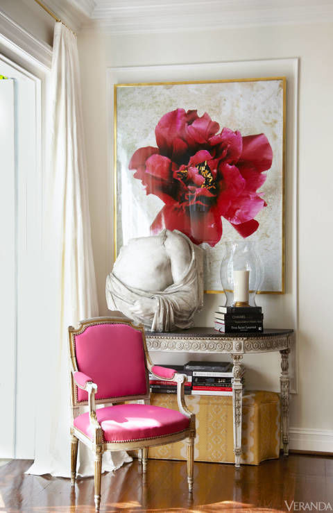 bold pops of pink by Suellen Gregory Via Veranda