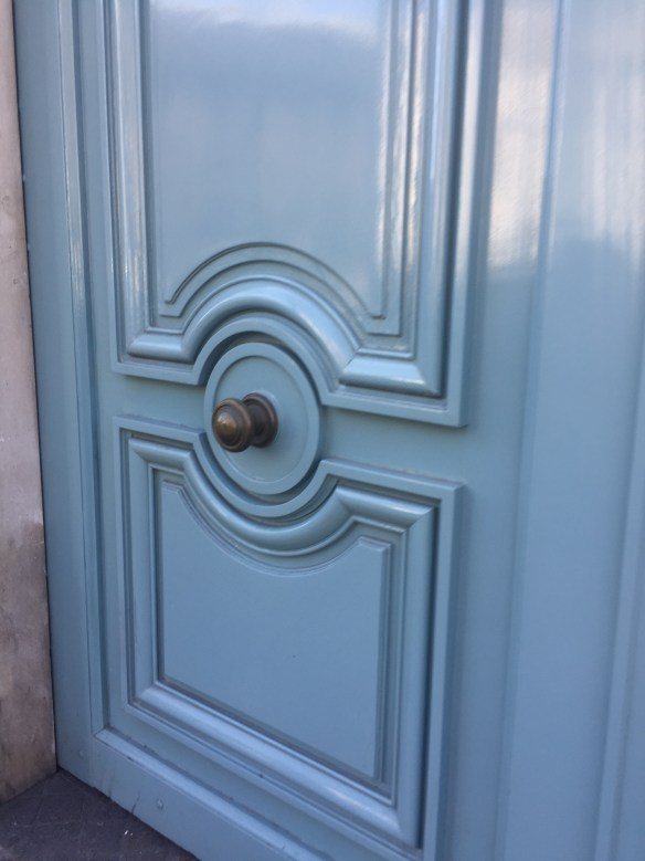 Parisian blue door photo by Christina Dandar for The Potted Boxwood