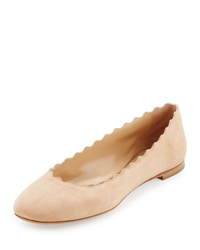 Chloe Scalloped Flats
