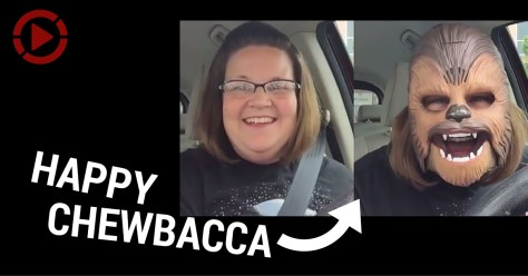 Happy chewbacca ad