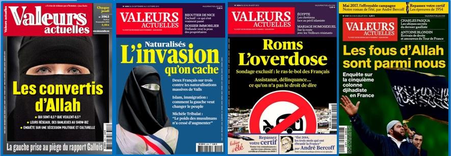 Valeurs actuelles - Unes polémiques !