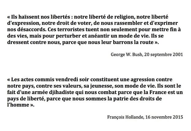 Discours de Bush et Hollande !