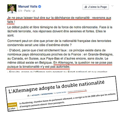 Valls et la double nationalité en Allemagne - ThePrairie.fr !