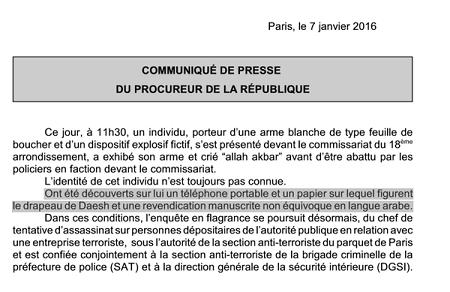Communiqué du Procureur - ThePrairie.fr !