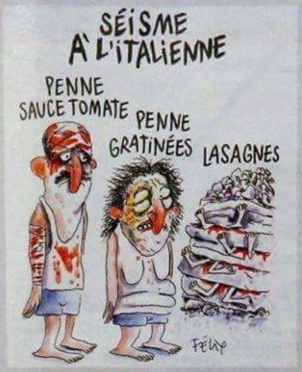 Charlie Hebdo Séisme en Italie - ThePrairie.fr !