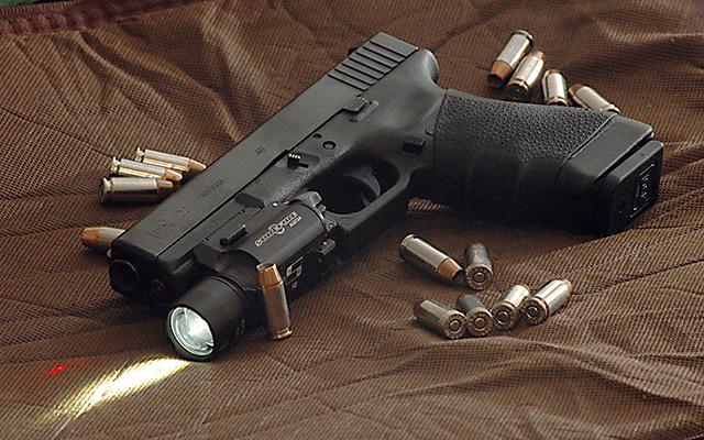 Glock 22 - Perfect as your sidearm or nightstand gun.