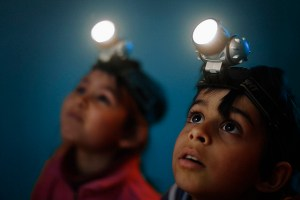 headlamps are awesome during a power outage. They allow hands free use.