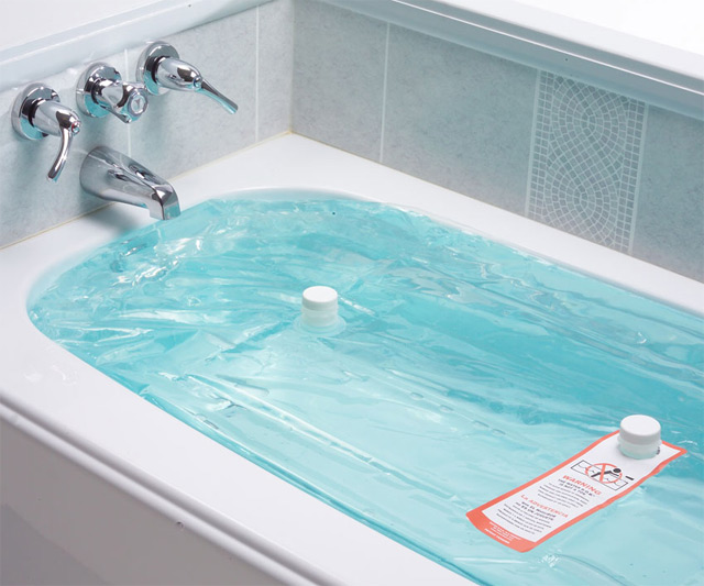 Emergency water storage could be found in the tap if you act quickly after a crisis. The WaterBob (pictured) allows you to store 100 gallons in the tub. You can use it for drinking or hygiene after the tap runs dry.