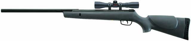 Velocity of up to 1,200 fps with PBA Raptor ammunition ; 4x32 air riflescope - $99