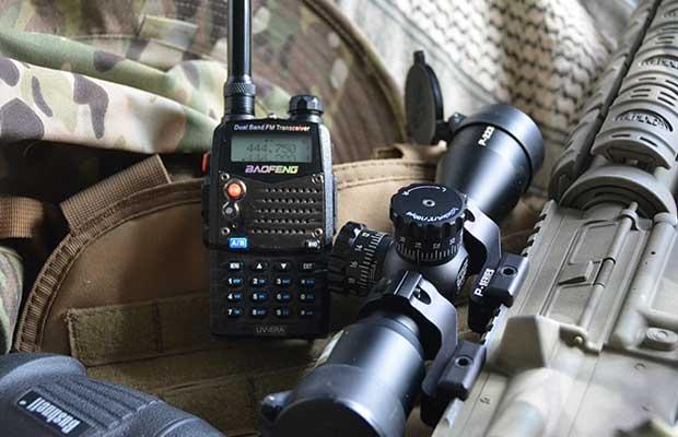 Grid down communications option, Baofeng radio.