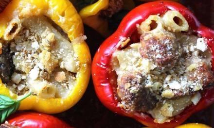Italian Mac and Cheese Stuffed Peppers
