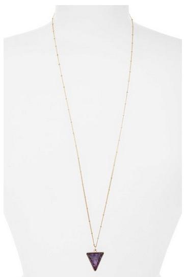 Girly Triangle Stone Pendant Necklace