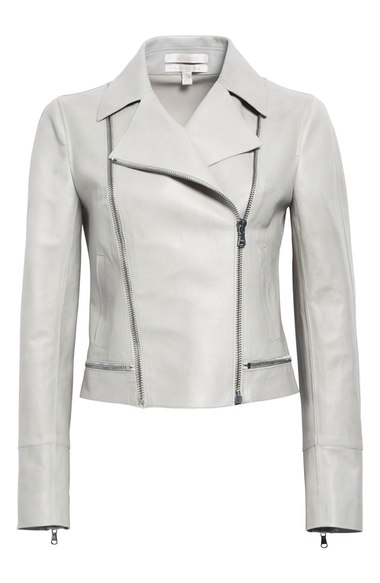 Nordstrom Signature and Caroline Issa Zip Detail Leather Moto Jacket