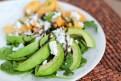 Avocado Peach Basil Spinach Salad - www.ThePrimalDesire.com