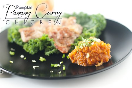 The sweetness of the pumpkin with the salt, spice, and tang of the curry is perfectly balanced in this Pumpkin Panang Curry Chicken. http://wp.me/p4Aygm-114