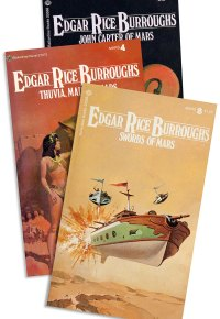 Paperback versions of Edgar Rice Burroughs' John Carter of Mar series.