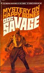 "Bob Larkin's cover for ""Mystery on Happy Bones."""