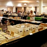 Late Saturday afternoon, the dealer's room begins to empty out as dealers begin packing away their pulps.