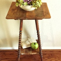 I rescued this spindle leg table using hemp oil restoration.