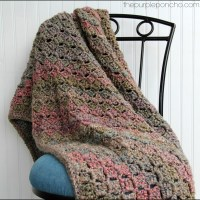 Crochet Corner-to-Corner Throw with Rope Edging - Free Patterns