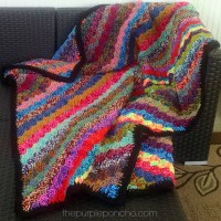 Crochet Corner-to-Corner Scrap Yarn Blanket - Free Pattern