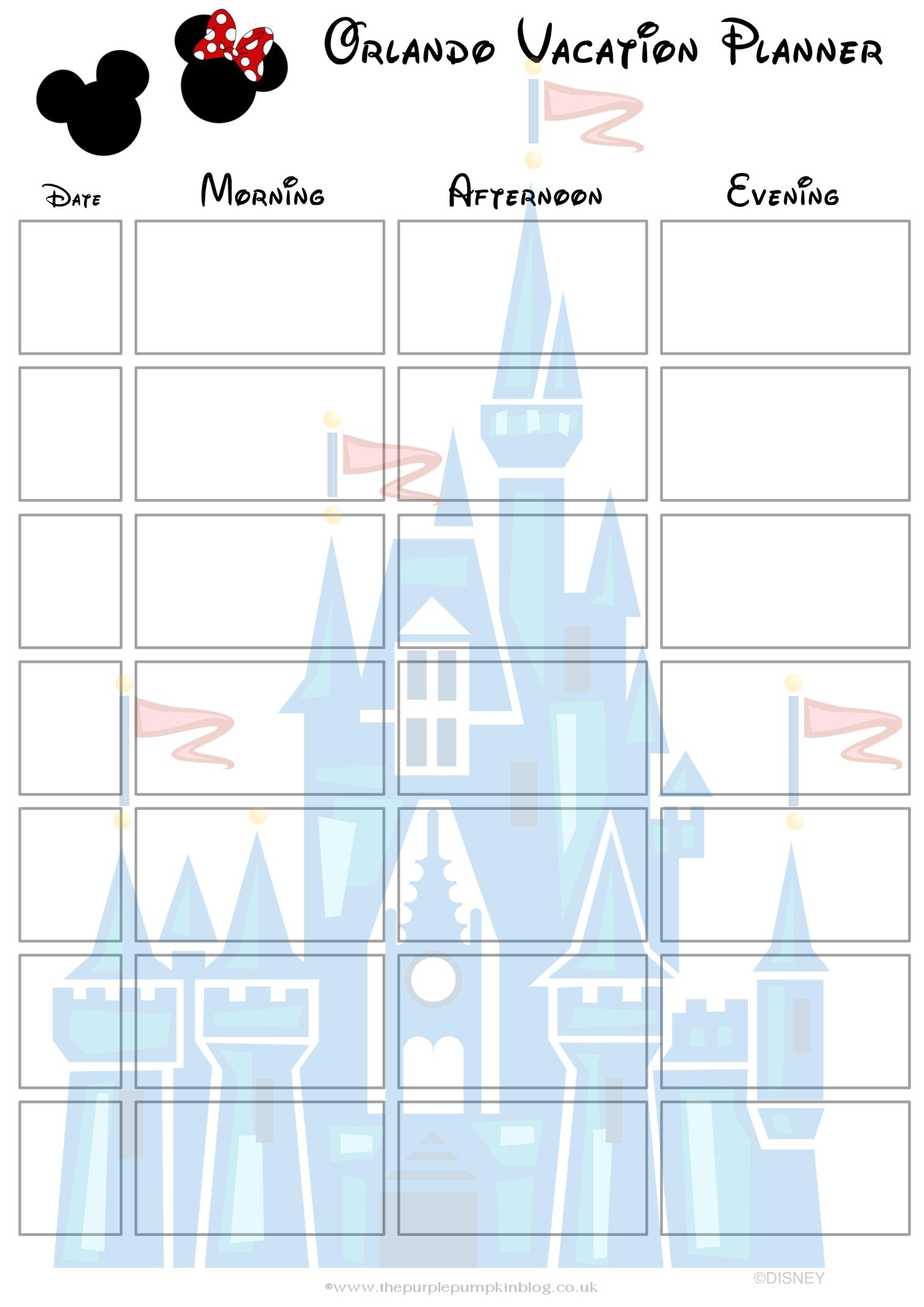 Orlando Walt Disney World Vacation Planner  Free